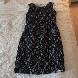 Black and White Calvin Klein Size 2P Dress